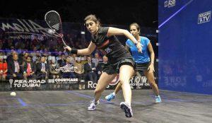 Nour El Sherbini joue avec la tecnifibre carboflex 125S